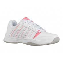 KSwiss Court Smash Carpet 2019 weiss/pink Indoor-Tennisschuhe Kinder