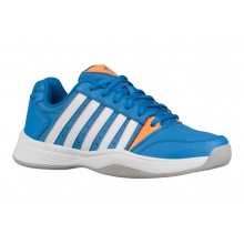 KSwiss Court Smash Carpet 2019 blau/orange Indoor-Tennisschuhe Kinder