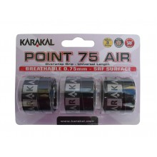 Karakal Point Air 0.75mm Overgrip 3er schwarz