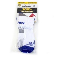 Karakal X2+ Trainer 2018 Indoorsocke weiss/dunkelblau 1er