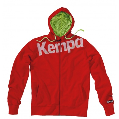 Kempa Kapuzenjacke Core 2016 rot Herren
