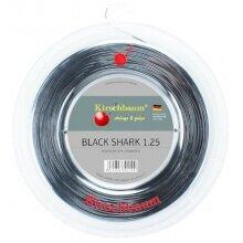 Kirschbaum Tennissaite Black Shark (Haltbarkeit+Spin) schwarz 200m Rolle