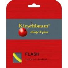 Kirschbaum Tennissaite Flash (Haltbarkeit+Power) gelb 12m Set