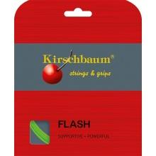 Kirschbaum Tennissaite Flash (Haltbarkeit+Power) lime 12m Set