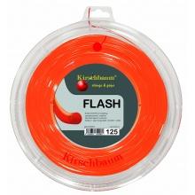 Kirschbaum Tennissaite Flash (Haltbarkeit+Power) lava/orange 200m Rolle