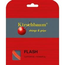 Kirschbaum Tennissaite Flash (Haltbarkeit+Power) lava/orange 12m Set