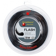 Kirschbaum Tennissaite Flash (Haltbarkeit+Power) schwarz 200m Rolle