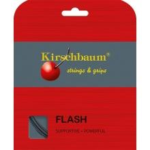 Kirschbaum Tennissaite Flash (Haltbarkeit+Power) schwarz 12m Set