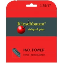 Kirschbaum Tennissaite Max Power (Haltbarkeit+Power) anthrazit 12m Set