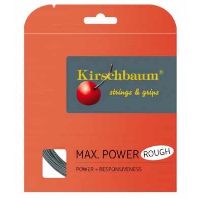 Kirschbaum Max Power Rough silber Tennissaite