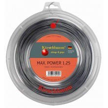 Kirschbaum Tennissaite Max Power (Haltbarkeit+Power) anthrazit 200m Rolle