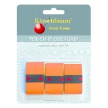 Kirschbaum Overgrip Touch it 0.5mm - extreme Griffigkeit - orange - 3 Stück