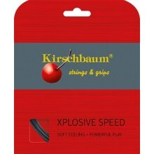 Kirschbaum Tennissaite Xplosive Speed (Spielgefühl+Power) schwarz 12m Set