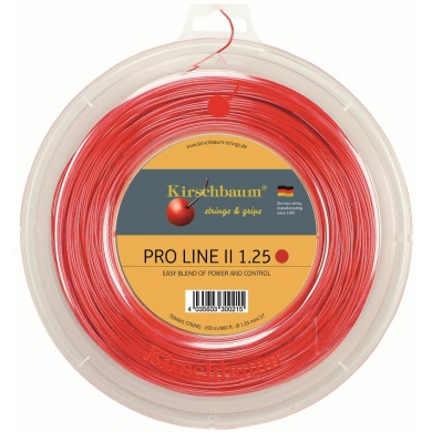 Kirschbaum Pro Line No. II rot 200 Meter Rolle