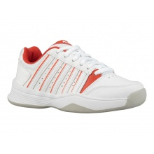 KSwiss Court Smash Carpet weiss/rot Indoor-Tennisschuhe Kinder
