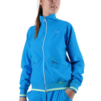 Limited Sports Trainingsjacke Vichy blau Damen