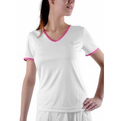 Limited Sports Shirt Tilly weiss/rose Damen
