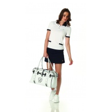 Limited Sports Polo Cora weiss/navy Damen