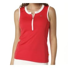 Limited Sports Tank Zip geranium Damen