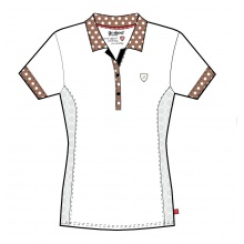 Limited Sports Polo Pearl weiss/braun Damen