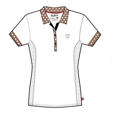 Limited Sports Polo Pearl weiss/braun Damen