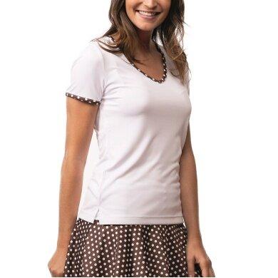 Limited Sports Shirt Silvy Dots weiss/braun Damen