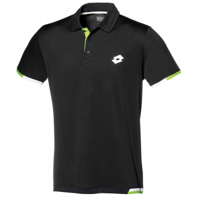 Lotto Polo Lob schwarz/lime Herren