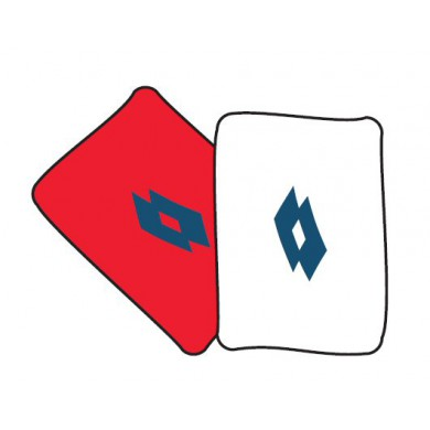 Lotto Schweissband Ace Sking weiss/rot 2er