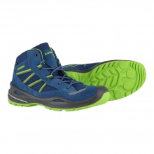 Lowa Simon II GTX QC navy/limone Outdoorschuhe Kinder