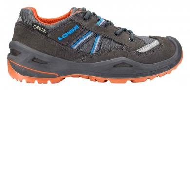 Lowa Simon II GTX Lo graphit/orange Outdoorschuhe Kinder