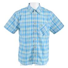 Maier Sports Kurzarmhemd blau/grün Herren