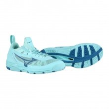 Mizuno Wave Luminous aqua Indoorschuhe Damen