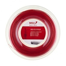 MSV Tennissaite Co Focus (Haltbarkeit+Kontrolle) rot 200m Rolle