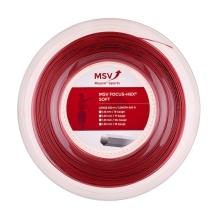 MSV Tennissaite Focus Hex Soft 1.25 rot 200 Meter Rolle