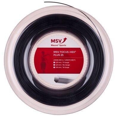 MSV Focus Hex Plus 25 schwarz 200 Meter Rolle