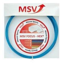 Besaitung mit MSV Focus Hex hellblau
