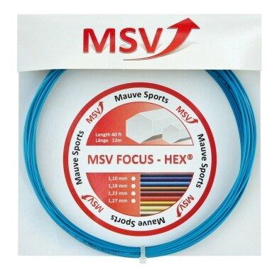 MSV Focus Hex hellblau Tennissaite