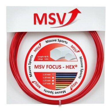 Besaitung mit MSV Focus Hex rot