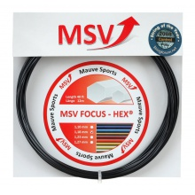 Besaitung mit MSV Focus Hex schwarz