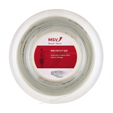 MSV Tennissaite Multi Q10 1.30mm (Armschonung+Touch) weiss 200m Rolle