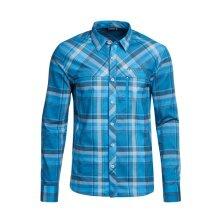 Maier Sports Langarmhemd Merton blau Herren