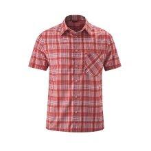 Maier Sports Kurzarmhemd rot/blau Herren