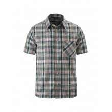 Maier Sports Kurzarmhemd grün/blau Herren