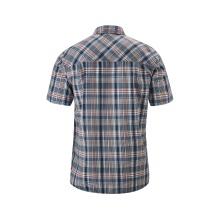Maier Sports Kurzarmhemd blau/rot Herren