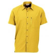 Maul Wander-Freizeit Kurzarmhemd Irschenberg mit Brusttasche gelb Herren
