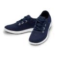 Merinos Sneaker Lace Up Merinowolle dunkelblau/weiss Damen