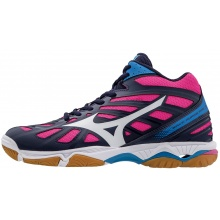 Mizuno Wave Hurricane 3 MID 2017 peacoat Indoorschuhe Damen