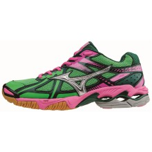 Mizuno Wave Bolt 4 2015 grün Indoorschuhe Damen
