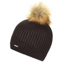 Eisbär Mütze (Pompon) Grania Lux schwarz Damen