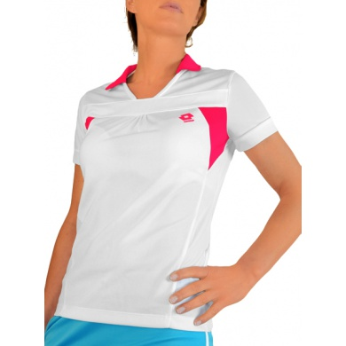 Lotto Polo Flo weiss/rot Damen